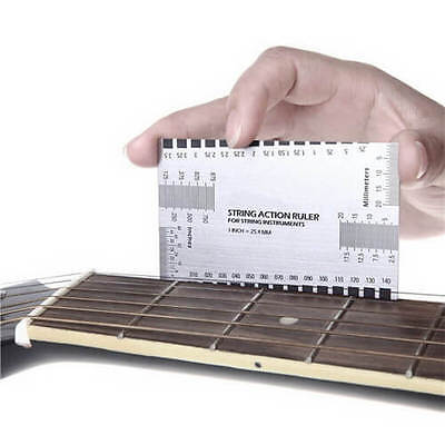 Mini Electric Guitar String Action Ruler Luthier Tool Configuration US