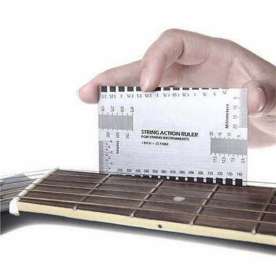 Mini Electric Guitar String Action Ruler Luthier Tool Configuration UK