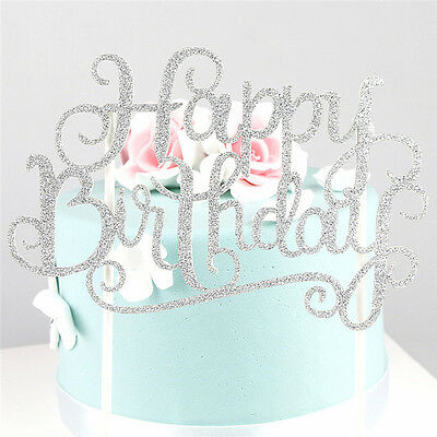 Birthday Cake Topper Happy Birthday Party Supplies Fashion Decorations