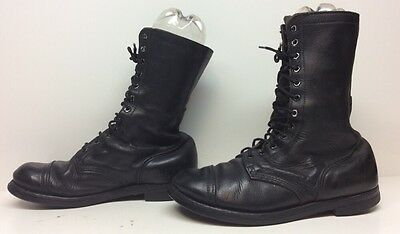 Mens Bfg Military Leather Black Boots Size ?