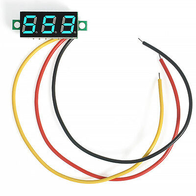 with 3 Wires Mini DC 0-100V LED 3-Digital Diaplay Voltage Voltmeter Panel Meter