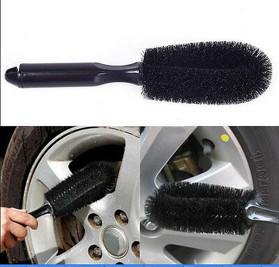Black Car Truck Motorcycle Bike Wheel Tire Rim Scrub Brush Washing Tool Hot