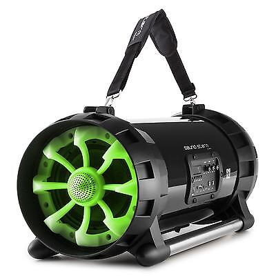 Auna 2.0 Bluetooth Speaker Gheetoblaster 40 W Rms Audio Dj Portable Boombox Usb