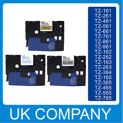 Great Quality Compatible For Brother P-Touch Tze Label Tape 36mm x 8m