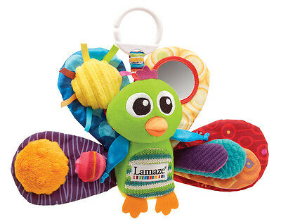 LC27013 Lamaze Jacques the Peacock Play & Go Pram Toy Baby Infant Age 0 Months+