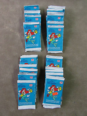 The Little Mermaid Lot of 36 Unopened Sealed Trading Card Packs
