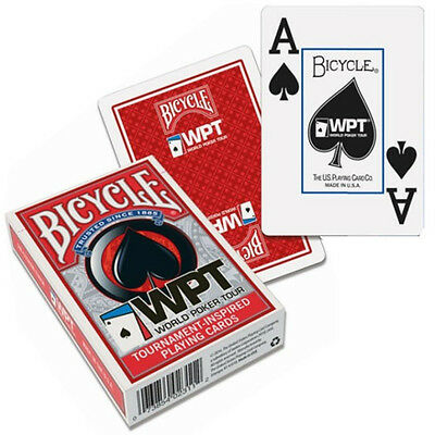 Carte Bicycle World Poker Tour - WPT Jumbo Index  colore Rosso