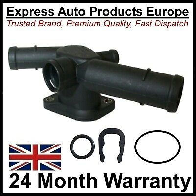Thermostat Housing Water Coolant Flange & Clip VW Golf MK4 T5 A3 1.6 2.0