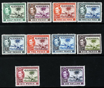 GAMBIA King George VI 1938-45 Elephant Part Set SG 150 to SG 156 MINT