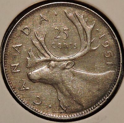 Canada Quarter - 1951 - King George VI - $1 Unlimited Shipping