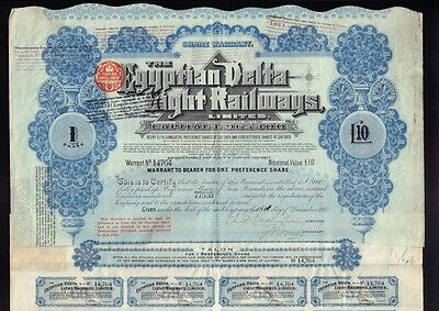 EGYPT  The Egyptian Delta Light Railways dd 1904