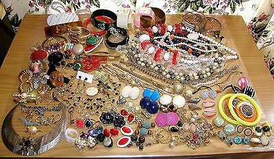 Huge Vintage Antique To Now Lot Jewelry Mixed 4 Lbs  Art Nouveau Deco Rhinestone