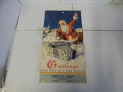 Vintage 1949 Advertising Calendar-Superior Tire Company-U.S Royal Tires