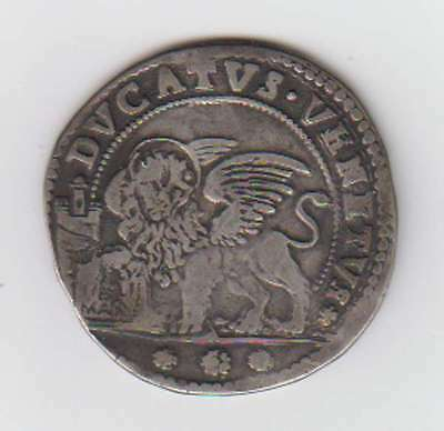 B8403: 1677 Doges of Venice Silver Ducato Coin