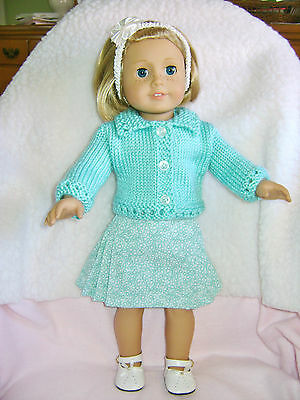 Doll clothes/ HANDMADE Skirt/Sweater Set/Fits American Girl 18 inch Dolls
