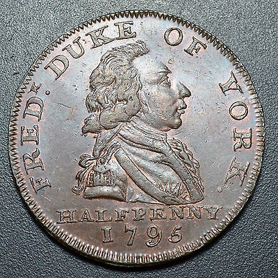 1795 Middlesex, National Series, Halfpenny Conder Token, D&h Middx 986