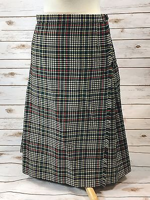 Lochcarron Tartan Plaid Wool Scottish Kilt Skirt Size 16 US / Waist 30""
