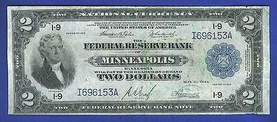 1918 $2 *HISTORIC* MINNEAPOLIS BATTLESHIP Federal Reserve Note!