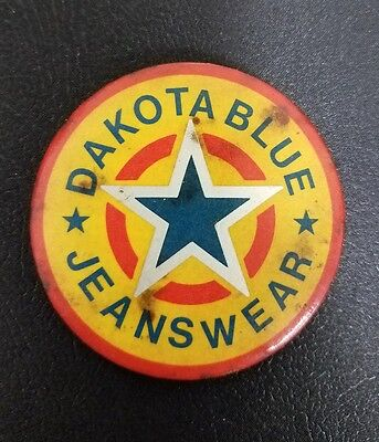 Vintage dakota blue jeanswear pin pinback advertising levis lee work wear 1920s?