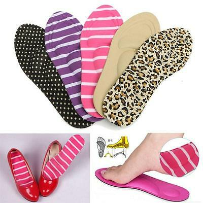 3D Sponge Foot Care Insoles High Heel Shoe Cushion Pads Orthotic Arch Support LG