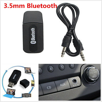 3.5mm AUX USB Wireless Bluetooth Music Audio Stereo Receiver Adapter Dongle NEW