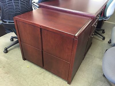 2 DRAWER LATERAL SIZE FILE CABINET by KIMBALL OFFICE FURN in MAHOGANY WOOD