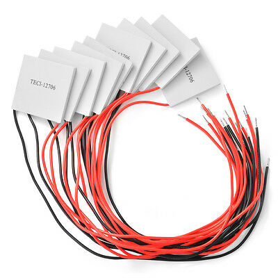 10pcs 12V TEC1-12706 Heatsink Thermoelectric Cooler Peltier Cooling Plate TE610