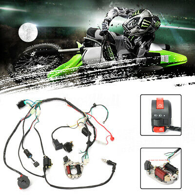 50cc-125cc CDI Wire Harness STATOR Assembly Wiring Set Chinese ATV Electric Quad