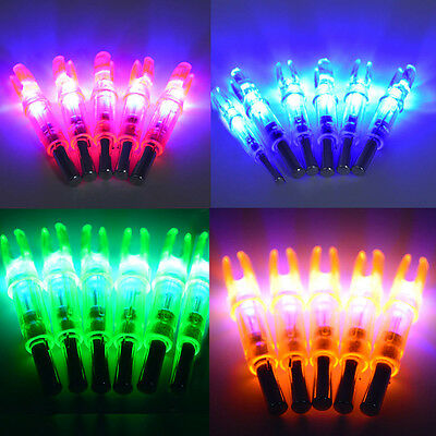 12/6PCS Colored Hunting Lighted Nock Led Lighted Luminous Tail Arrow Nocks Parts