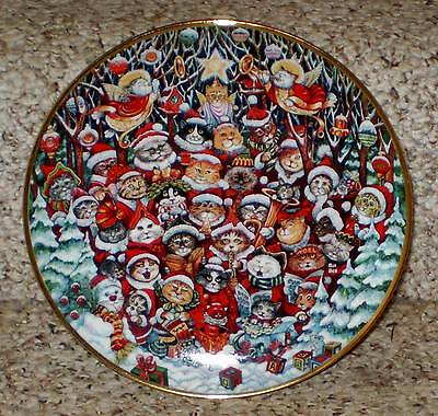 Santa Claws by Bill Bell Cat Collector Plate from Franklin Mint