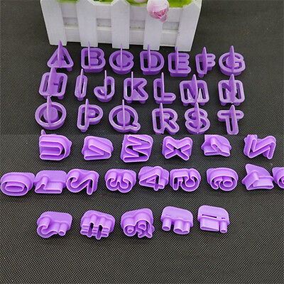 40 Pcs/Set Modern Kitchen Gadgets Alphabet Letter Cookie Cutters Baking Molds