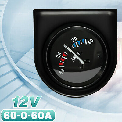 2'' 52mm 12V Car AMPS Meter Ammeter Pointer 60-0-60A White LED Light Universal