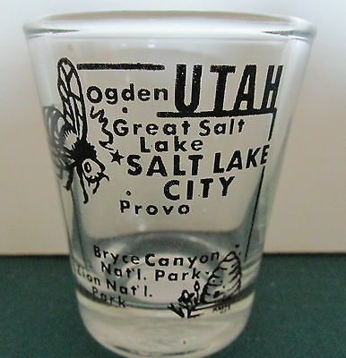 State Of Utah      Map   Shot Glass