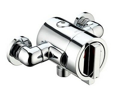 Bristan CHILL Exposed Dual Control Thermostatic Mixer Shower Valve Chrome 150mm