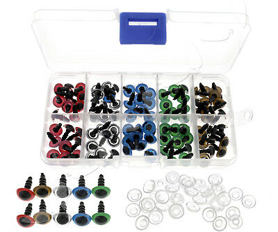 10MM Mixed Color Plastic Safety Toy Screw Eyes Kit for Teddy Bear Doll Amigurumi