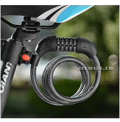 Bicycle Bike Motorcycle 5 Digit Combination Password Security Anti-thief Lock