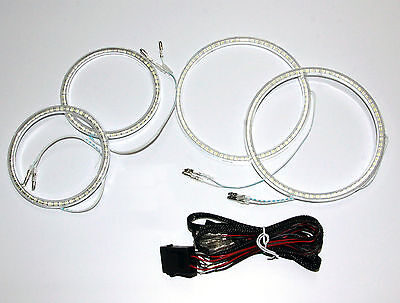 Angel Eyes Halo Rings SMD Pure White 6000K fit Ford Mondeo MK 3