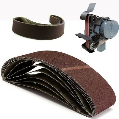 6 Pack 4'' x 36'' (100 x 95mm) Sanding Belts 40 Grit For Metal Working
