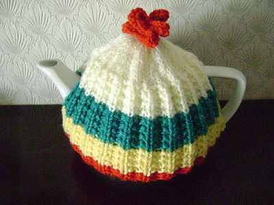 New Hand Knitted Tea Cosy Small Size