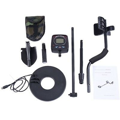 "8.5"" Metal Detector Kit Sensitive Search Treasure w/Shovel Waterproof Coil LCD"
