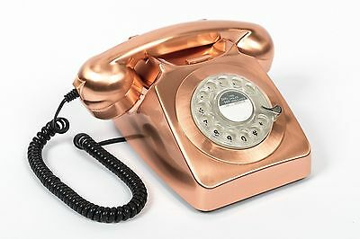 GPO 746 Retro 1970's Rotary Dial & Authentic Bell Ringer Telephone - Bronze