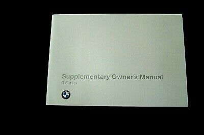 bmw m3  Supplement to the Owners Manual new Original e36