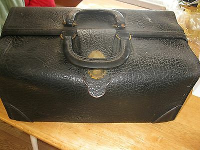 Vintage Medical Doctor Bag Case Suitcase With stethoscope,storage compartment