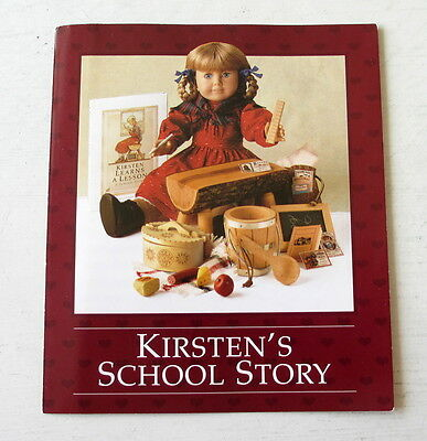 PC American Girl Kirsten's School Story Pamphlet About Supplies Lunchbox Outfit