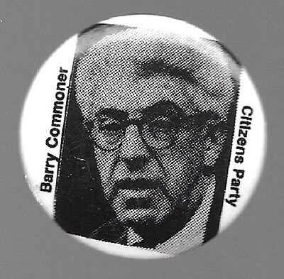 Barry Commoner For President Citizens Party 1980 Political Pin