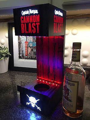 Captain Morgan CANNON BLAST Back Bar Bottle Glorifier *NEW*