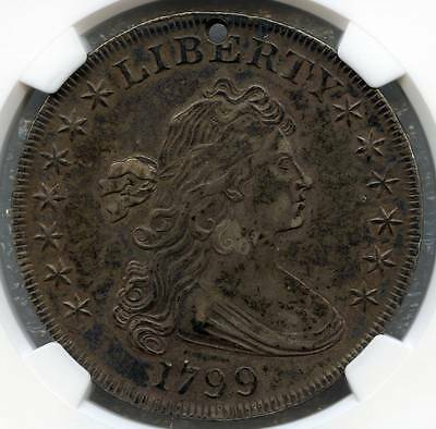 1799 $1 XF Details, Holed  BB-157, B-5     Very strong XF with a neat small hole