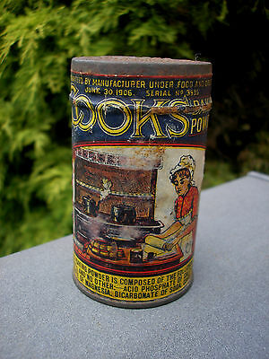 antique Cooks 5¢ Baking Soda spice can Hubbard & Co. Pittsburg PA - early 1900's