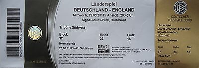 TICKET 22/3/2017 Germany vs. England @ Dortmund