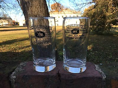 Vintage Tennessee Squire Member Jack Daniels Whiskey Collectible Glasses Pair